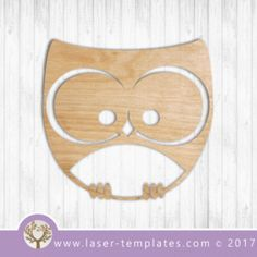 Cute Owl bird laser cut template. $1 ON SALE - Online store for laser cut patterns. Free laser cut designs every day. Cute Owl 2.