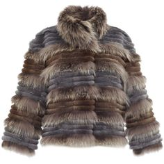 Hockley Silver Fur Short Pina Jacket ($3,170) ❤ liked on Polyvore