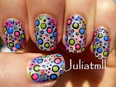 Crazy Polka Dot Nail Art Tutorial