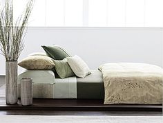 This is the CK Briar collection on the actual CK website. Check it out: looks a lot more straw colored in this image than the image on Macy's site. Calvin Klein Rugs, Home, Redecorate Bedroom, Bedding Sets, Sleeping Porch, Bed, Luxury Bedding, Cool Rooms, Office Interiors