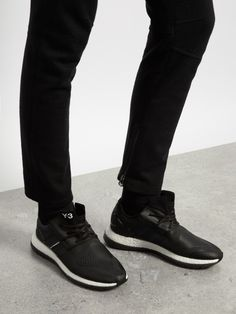Pure Boost low-top trainers | Y-3  These black Pure Boost trainers are part of the cult collaboration between Japanese designer Yohji Yamamoto and Adidas.
