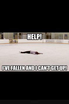 hahaha figure skating probs happens every time I skate