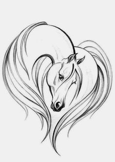 Simple Horse Head Drawing horse drawings on pinterest equine art, horse art and horse