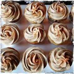 Chai Cupcakes with Pumpkin Spice Frosting