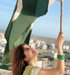 Pakistani Actresses on Independence day - Pakistani stars were seen waving Pakistan's flag and painting the country green. We saw Pakistani actresses in differe Sajjal Ali, Maya Ali, Pakistan Independence Day, Pakistan Zindabad, Prettiest Actresses, Latest Instagram, Pakistani Actress, Girls Dpz, Girls Image