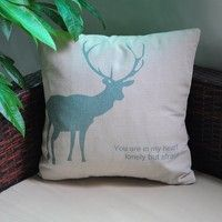 Decorate your bed or couch with a cushion in this Pillow Case Made from quality linen, the case is l