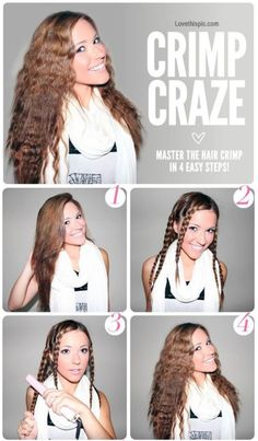 DIY Crimp Craze Hair in 4 easy steps