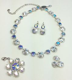 Swarovski Crystal 12mm / 8.5mm Necklace Winning by CathieNilson
