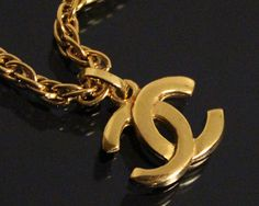 Vintage CHANEL Jewelry Jewellery Gold Cross Logo by fashionsquid