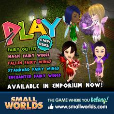 Play Fairy Suit and Wings!  www.smallworlds.com :} I Love smallworlds so much
