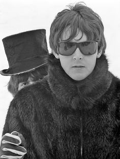 Paul McCartney and George Harrison, 1960s.