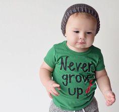 Never Grow Up Shirt. by PoshLittlePeanutLLC on Etsy http://www.etsy.com/?utm_content=buffer3f180&utm_medium=social&utm_source=pinterest.com&utm_campaign=buffer...  Disney Peter Pan Never Grow Up Infant Baby Toddler