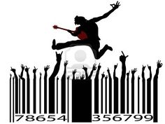 Illustration of rock music bar code on white background vector art, clipart and stock vectors. Barcode Art, Barcode Design, Graphic Design, Experiential Marketing, Guerilla Marketing, Email Marketing, Pictures Of Rocks, Linear Art, Smile Wallpaper
