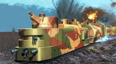 1939 Armored train Pilsudski - Andrzej Deredos Thanks to Larry (ramset) for his fantastic photochop work to help complete this painting (cover from a paper model) Military Art, Military History, Steampunk Armor, Railway Gun, Invasion Of Poland, Train Art, Model Tanks, Rail Car, Train Pictures
