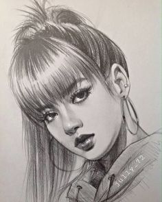 Hope you like it blackpinkfanart blackpink lisa Pencil Portrait, Female Portrait, Portrait Art, Portraits, Kpop Drawings, Pencil Art Drawings, Art Drawings Sketches, Kpop Fanart, Blackpink Lisa