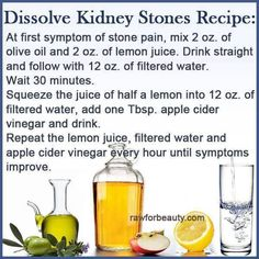 Recipe to Dissolve Kidney Stones | I Love Food So Much