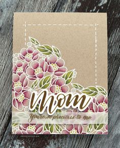 Mother's Day Card with Polychromos Colored Pencils (Simon New Release Blog Hop) – kwernerdesign blog