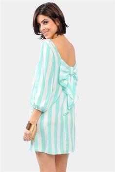 Necessary Clothing Waldorf Bow Dress - Mint/White