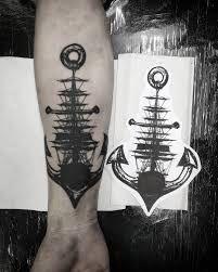 Resultado de imagem para the sail and the anchor tattoo