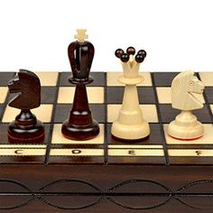 """Large European Wooden Chess and Checkers Set - 19.7\"""" ** More info could be found at the image url."""