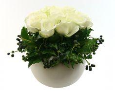 Kate Hill Flowers   Flower Delivery Melbourne   Order Flowers Online and Send Flowers Melbourne   Rose Ceramic Ball Vase Design