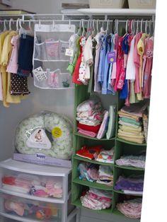 Nursery storage ideas.
