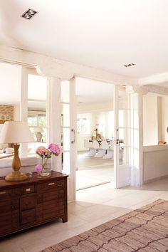 Interior windows and doors! Interior Windows, Interior Decorating, Interior Design, Built In Shelves, Cuisines Design, Windows And Doors, Large Windows, Great Rooms, Home And Living