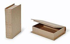 Paper Mache Book Box - 9-3/4 x 6-1/2 x 2-1/4 in
