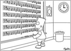 The dreaded Canon in D cello part.Community Post: 20 Jokes Only Musicians Will Understand I Love Music, Good Music, Music Jokes, Funny Music, Cello Music, Music Music, Simpsons, Piano Teaching, Music Classroom