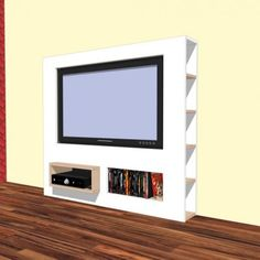 Furniture plan DIY modern TV stand for plywood or MDF Tv Stand Plans, Tv Unit Decor, Flatscreen, Entertainment Wall, Modern Tv, Home Tv, Diy Furniture Plans, Tv Cabinets, New Living Room
