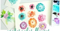 Watercolor Flower Video Tutorials: Learn to paint an Anemone, Rose, and Chrysanthemum- by growcreative