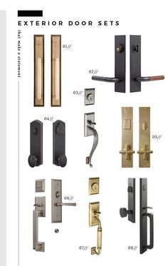 We're sharing a gigantic roundup of our favorite interior and exterior door hardware. Don't forget to accessorize your doors! Exterior Door Hardware, Front Door Handles, Sliding Barn Door Hardware, Exterior Doors, Black Door Hardware, Interior Door Styles, Interior Door Knobs, Interior Barn Doors, Interior And Exterior