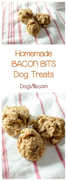 Give your dog a reason to bark for joy with this bacon bits homemade dog treat recipe! Check out the video tutorial too! Yum!