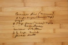 Recipe scanned from Mom's or Grandma's handwriting  by 3DCarving, $30.00 - gift idea