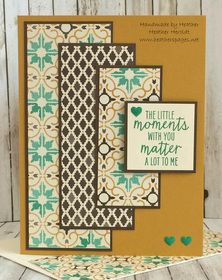 Look at all the layers on this sketch from Freshly Made Sketches ! I knew right away that I wanted to feature the GORGEOUS Moroccan DSP papers. Paper Cards, Diy Cards, Crafters Companion Cards, Stampin Up Catalog, Diy Christmas Cards, Stamping Up Cards, Scrapbook Cards, Scrapbooking, Card Sketches