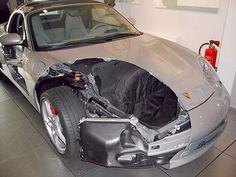 Porsche Boxster 986 cut away at Porsche Museum