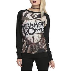 My Chemical Romance Black Parade Pullover Top | Hot Topic ($33) ❤ liked on Polyvore featuring tops, shirts, sweaters, pullover shirt, long sleeve pullover shirts, longsleeve shirts, long sleeve pullover and sweater pullover