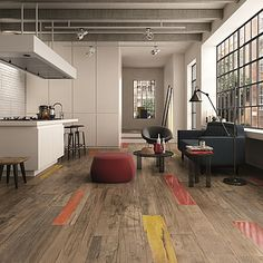 "Love the colored ""wood"" floor tiles ABK Dolphin Dolphin-ABK-3"