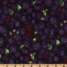 Farmer John's Marketplace II Blackberry Purple from @fabricdotcom  Designed by Paintbrush Studios for Fabri-Quilt, this cotton print fabric features blackberries and is perfect for quilting, home décor accents, craft projects and apparel. Colors include deep purple, burgundy and green.