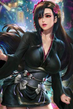 Artwork Final Fantasy, Final Fantasy Characters, Final Fantasy Vii Remake, Video Game Characters, Fantasy Girl, Fantasy Art Women, Anime Fantasy, Anime Girl Hot, Kawaii Anime Girl