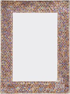 Bohemian Luxury Granada Handmade Mirror Gold & Silver Boho Glass Triangles Home… Mirror Mosaic, Mosaic Wall, Mosaic Glass, Wall Mirror, Handmade Mirrors, Easy Home Decor, Find Art, Framed Artwork, Wall Decor