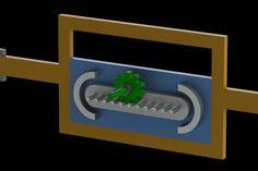 Mangle rack reciprocating mechanism