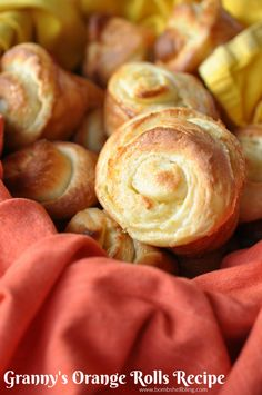 Granny's Homemade Orange Rolls Recipe - This recipe has been in our family for generations and we eat it every holiday dinner! It is AMAZING!