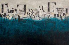 Towards together, schilderij van Db Waterman | Abstract | Modern | Kunst