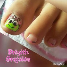 Nails Ideas For Spring Girls 66 Ideas Pedicure Designs, Toe Nail Designs, Nail Polish Designs, Toe Nail Color, Toe Nail Art, Toe Nails, Baby Girl Nails, Girls Nails, Pedicure Nails