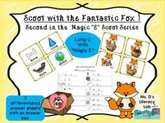"""It's time for fun with the Fantastic Fox ! Students will """"open"""" the box and write the name of the object inside. As they hop through this colorful scoot, students will get additional practice with the """"Magic E"""" vowel pattern.This packet includes 16 Scoot cards, 3 answer sheets (Magic """"E"""" pattern on one sheet, varied letters omitted (see preview above) and pictures with an open space for writing all the letters in a word), and a teacher answer key."""