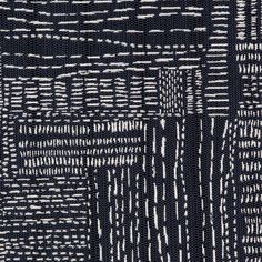 Sashiko Stitch Fabric in Navy