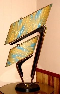 1950's Majestic lamp with incredible fiberglass shades