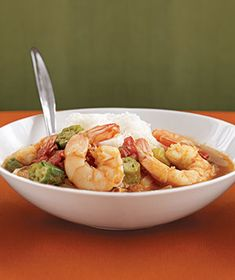 Slow-Cooker Seafood Gumbo|This comforting, rich Southern stew is bursting with shrimp and crab. It's also loaded with vegetables like okra and tomatoes, making it a hearty meal-in-a-bowl.