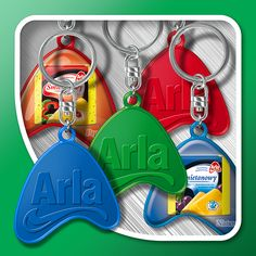 Keyrings with relief
